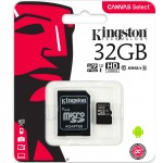 Card de memorie Kingston, MicroSDHC, 32GB, Class 10, UHS-I + Adaptor