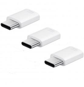 Pachet 3 x Adaptor USB Type-C Samsung la MicroUSB, White