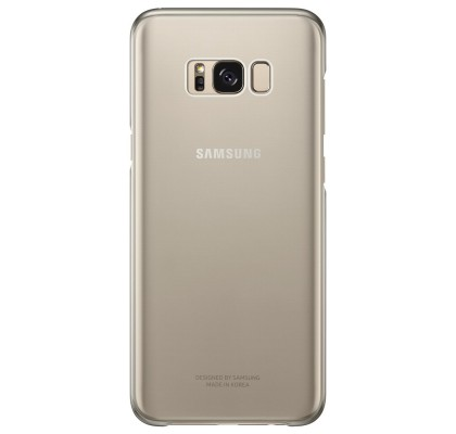 Husa Protective Cover Clear Samsung Galaxy S8 Plus, Gold