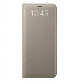 Husa LED View Cover pentru Samsung Galaxy S8 Plus, Gold