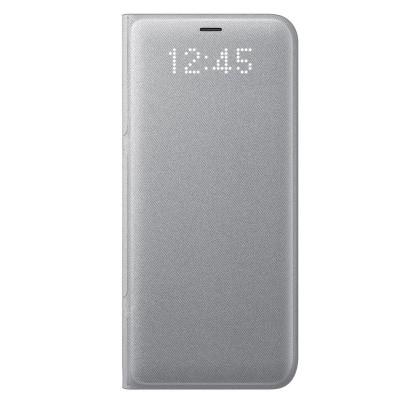 Husa LED View Cover pentru Samsung Galaxy S8 Plus, Silver